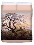 The Tree Of Crows Duvet Cover by Caspar David Friedrich