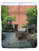 The Turret Of The Leopard 1a5 Main Duvet Cover by Luc De Jaeger