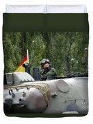 The Turret Of The Leopard 1a5 Mbt Duvet Cover by Luc De Jaeger