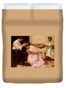 The Two Crowns Duvet Cover by Charles Sims