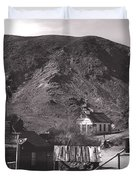 The Upper Village of Calico Ghost Town Duvet Cover by Susanne Van Hulst