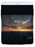 The View From An Alien Moon Towards Duvet Cover by Brian Christensen
