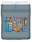 The Vincent Van Gogh Small House Duvet Cover by Tamyra Ayles
