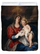 The Virgin And Child Duvet Cover by Sir Anthony Van Dyck
