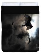 The Vultures Have Gathered In My Dreams . Version 2 Duvet Cover by Wingsdomain Art and Photography