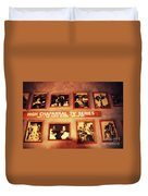 The Wall Of Fame In Old Tuscon Az Duvet Cover by Susanne Van Hulst