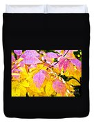 The Warm Glow In Autumn Abstract Duvet Cover by Andee Design
