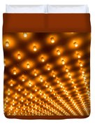 Theater Marquee Lights In Rows Duvet Cover by Paul Velgos
