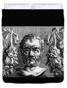 Theophrastus, Ancient Greek Polymath Duvet Cover by Photo Researchers