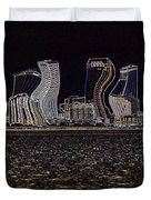 This City Is Rockin' Duvet Cover by Carol Groenen