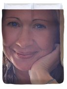 This Smile Was For You Duvet Cover by Laurie Search