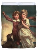 Thomas John Clavering and Catherine Mary Clavering Duvet Cover by George Romney