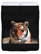 Tiger Blue Eyes Duvet Cover by Rebecca Margraf