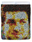 Tim Tebow MMs Mosaic Duvet Cover by Paul Van Scott