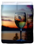 Toasting A Beautiful Evening Duvet Cover by Patrick Witz