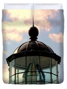 Top Of Bonita Lighthouse Duvet Cover by Kathleen Struckle
