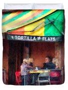 Tortilla Flats Greenwich Village Duvet Cover by Susan Savad