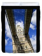 Tower Bridge In London Duvet Cover by Elena Elisseeva