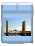 Tower Bridge Sacramento - A Golden State Icon Duvet Cover by Christine Till