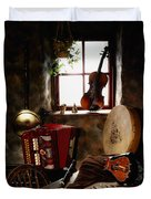 Traditional Musical Instruments, In Old Duvet Cover by The Irish Image Collection