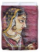 Traditional Painting On A Wall Jodhpur Duvet Cover by David DuChemin