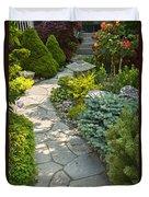 Tranquil Garden  Duvet Cover by Elena Elisseeva