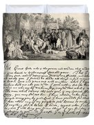 Treaty Between William Penn Duvet Cover by Photo Researchers