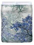 Trees Above Duvet Cover by Rebecca Margraf