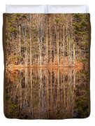 Trees In The Comfort Of Trees Duvet Cover by Karol Livote