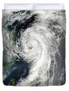 Tropical Storm Dianmu Duvet Cover by Stocktrek Images