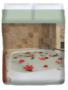 Tub Of Hibiscus Duvet Cover by Shane Bechler