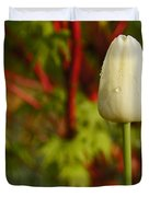 Tulip And Coral Maple In Spring Duvet Cover by Mick Anderson