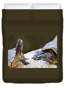 Turtle Conversation Duvet Cover by Elena Elisseeva