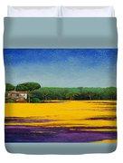 Tuscan Landcape Duvet Cover by Trevor Neal