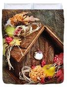 Tweet Little Bird House Duvet Cover by Andee Design