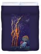 Twisting In The Night Duvet Cover by Mindy Huntress