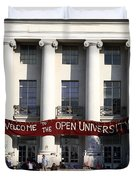UC Berkeley . Sproul Hall . Sproul Plaza . Occupy UC Berkeley . 7D9991 Duvet Cover by Wingsdomain Art and Photography