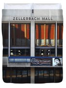 UC Berkeley . Zellerbach Hall . 7D9989 Duvet Cover by Wingsdomain Art and Photography