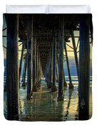 Under The Boardwalk Duvet Cover by Chris Lord