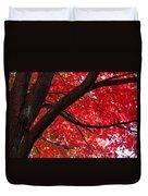 Under The Reds Duvet Cover by Rachel Cohen