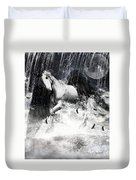 Unicorn's Complexities Duvet Cover by Lourry Legarde