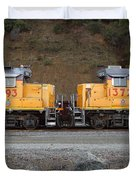 Union Pacific Locomotive Trains . 7D10573 Duvet Cover by Wingsdomain Art and Photography