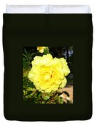 Upbeat Yellow Rose Duvet Cover by Will Borden