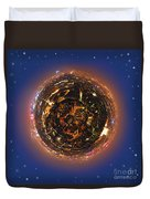 Urban Planet Duvet Cover by Elena Elisseeva
