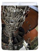 U.s. Air Force Technician Hydraulically Duvet Cover by Stocktrek Images