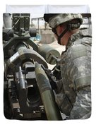 U.s. Army Soldier Loads A 105mm Duvet Cover by Stocktrek Images