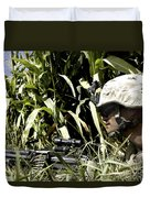 U.s. Marine Maintains Security Duvet Cover by Stocktrek Images