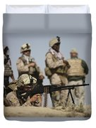U.s. Marine Prepares To Fire A Pk Duvet Cover by Terry Moore