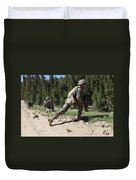 U.s. Marines Training At The Mountain Duvet Cover by Stocktrek Images