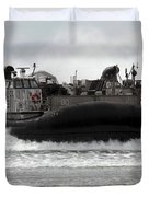 U.s. Navy Landing Craft Air Cushion Duvet Cover by Stocktrek Images